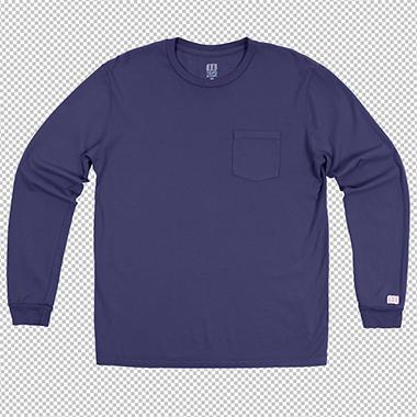 blue_pocket_tee_long_sleeve_color_correction_in_transparent_background