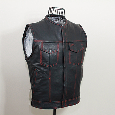 need_to_remove_mannequin_off_a_sleeveless_black_leather_jacket