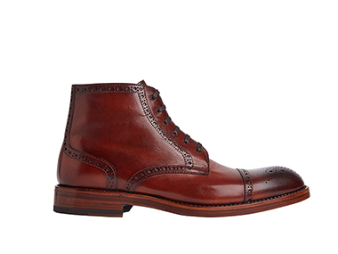 brown Mens high neck shoes cutout by Clipping path zone