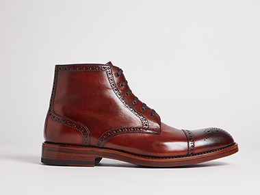 brown Mens high neck shoe that needed cutout