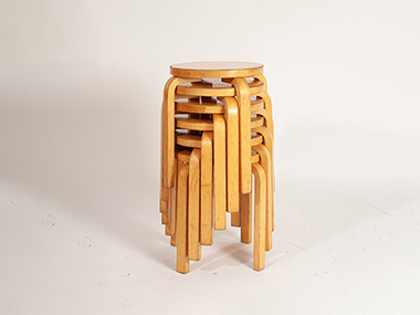 Dust & scratch retouch needed of stacking stool