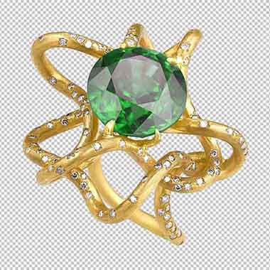 Jewelry Color correction and transformation of ring and stone done by clipping path zone