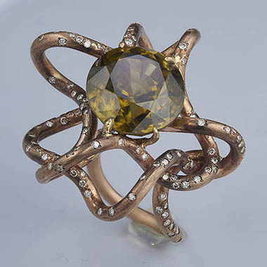 Jewelry Color correction and transformation of ring and stone needed