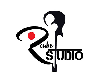 Musical studio logo design by Clipping path zone creative design services for R-cube Studio