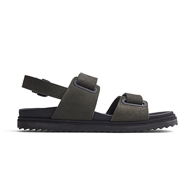 Montana sling back suede sandal Shadow creation by Clipping Path Zone