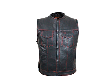 Clipping path zone removed Mannequin off a leather jacket picture