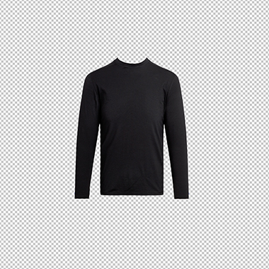 Ghost mannequin service for black long sleeve sweat shirt