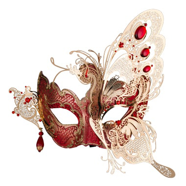 venetian Mask after isolation from background by clipping path zone team