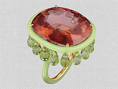Product retouching for Jewelry ring Dust and Scratch cleaning by clipping path zone